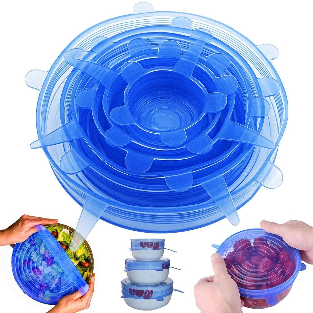 In Stock Reusable Silicone Stretch Lids